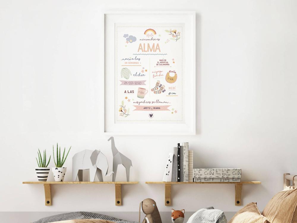 Lámina Nacimiento Ilustrada