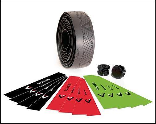 ASTUTE dark RACE handlebar tape black red lime