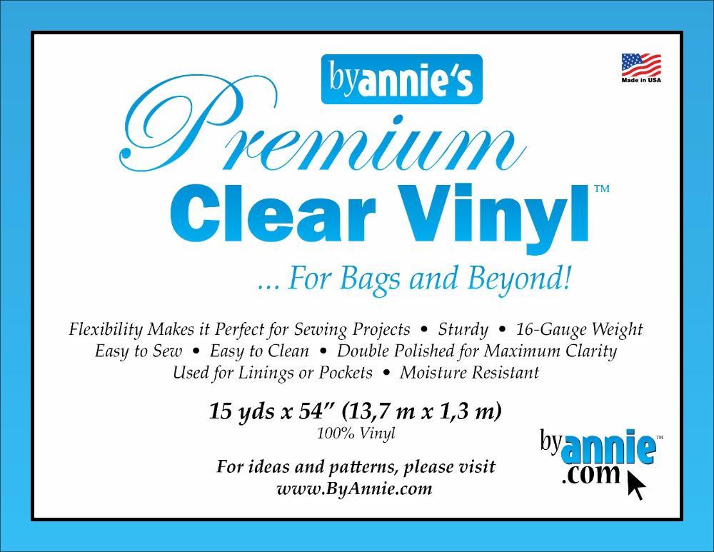 """Supplies Vinyl, clear - 15yd x 54"""""""