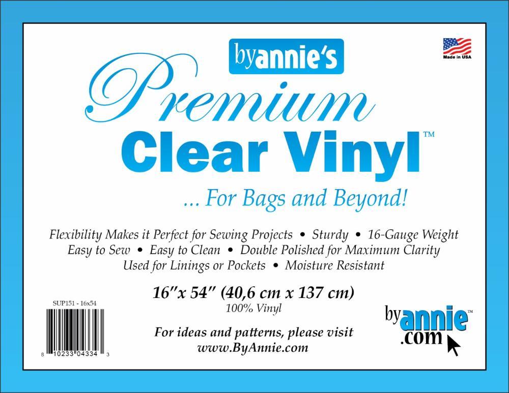 """Supplies Vinyl, clear - 16"""" x 54"""""""