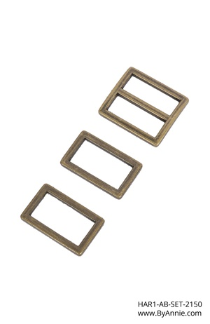 "Hardware 1"" antique brass - Hardware Set 2150"