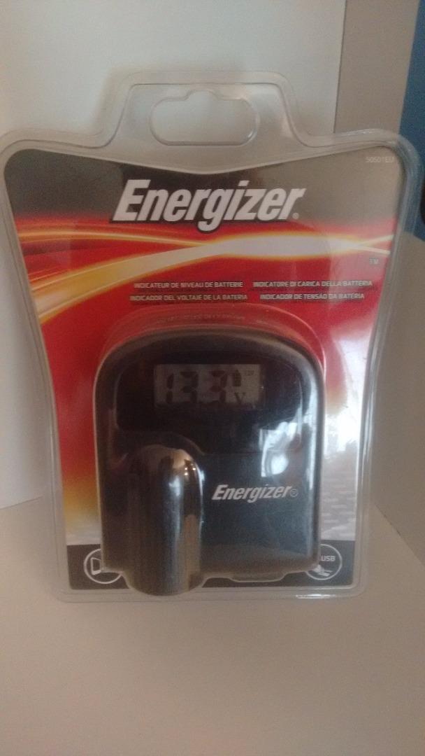 ENERGIZER Toma mechero y cargador 12v. con voltímetro