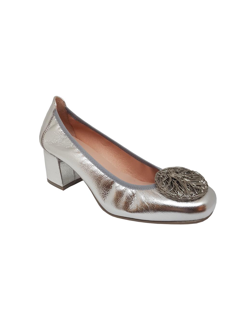 Novedad Zapato de piel plata