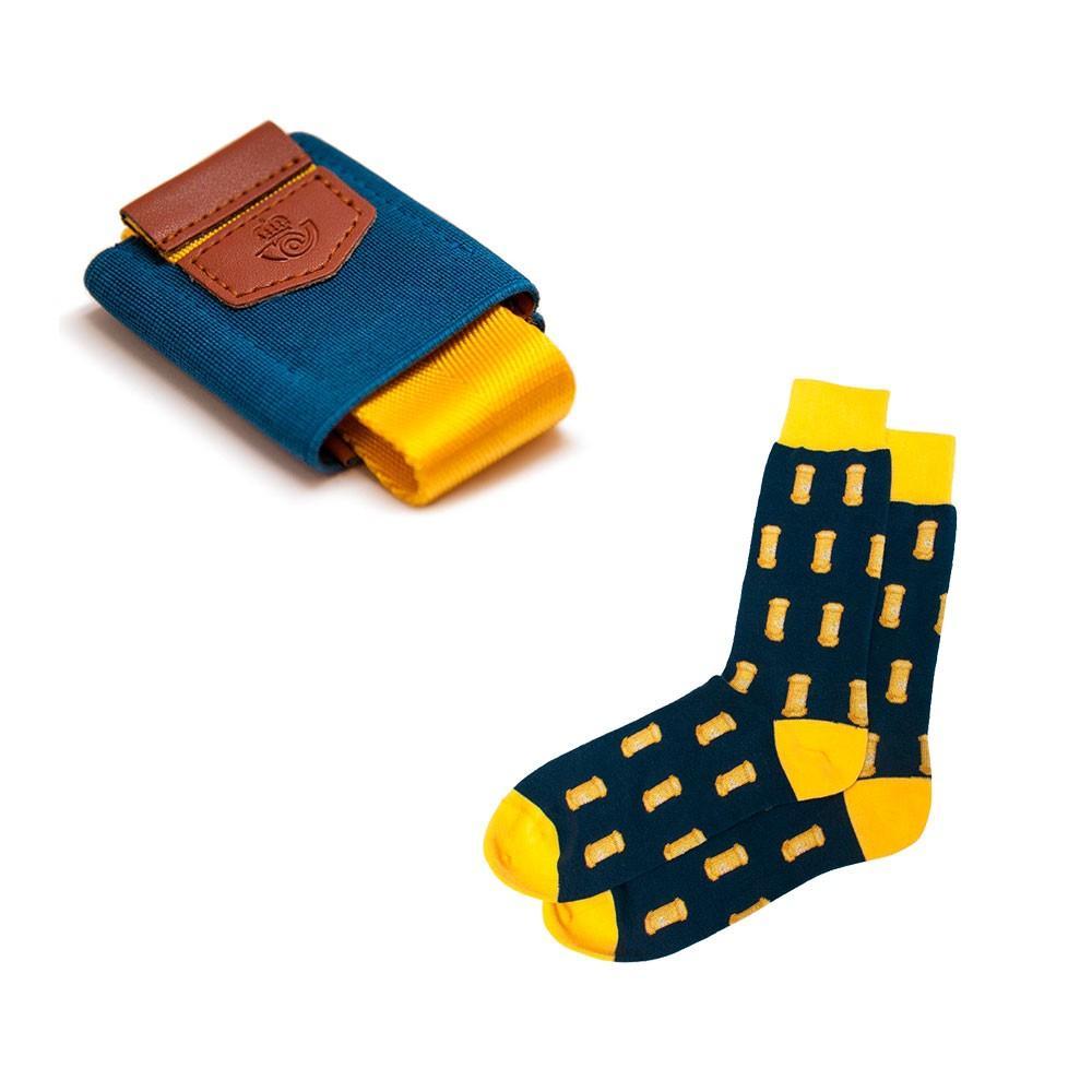 Pack calcetines y cartera azul Correos
