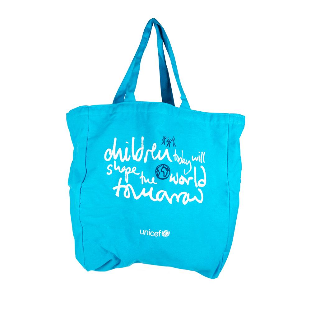 Bolso de tela azul UNICEF