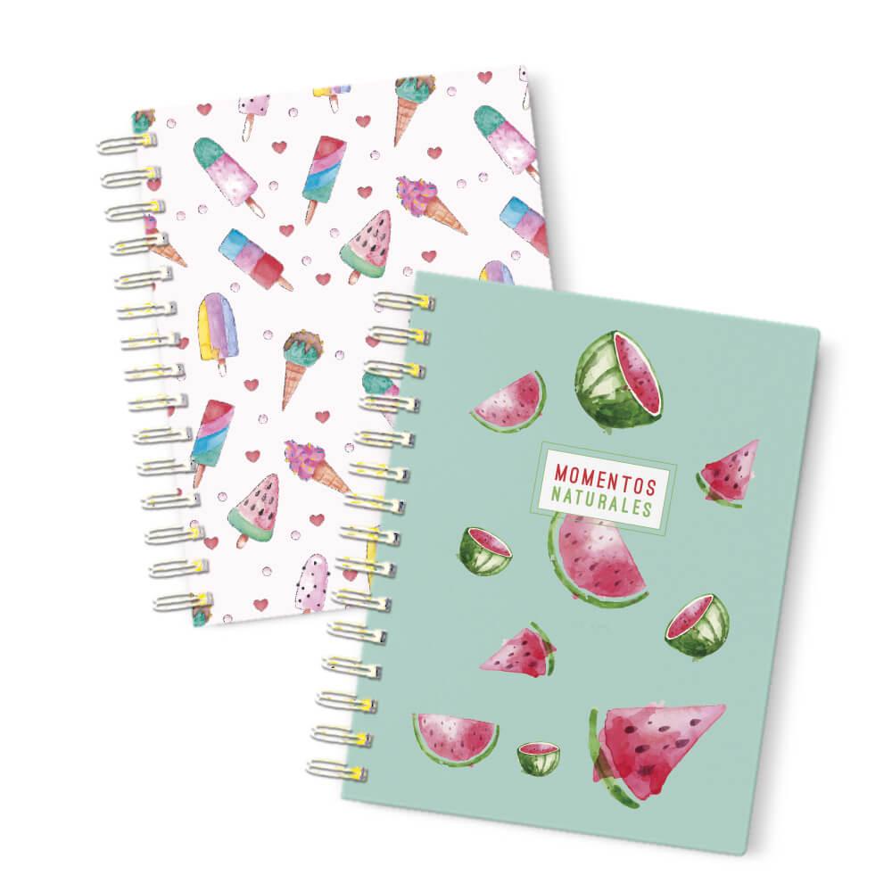 Pack 2 cuadernos de bolsillo frutas Prodis