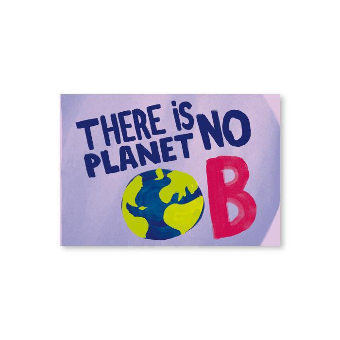 Tarjeta postal Planet B - Protest Stamps