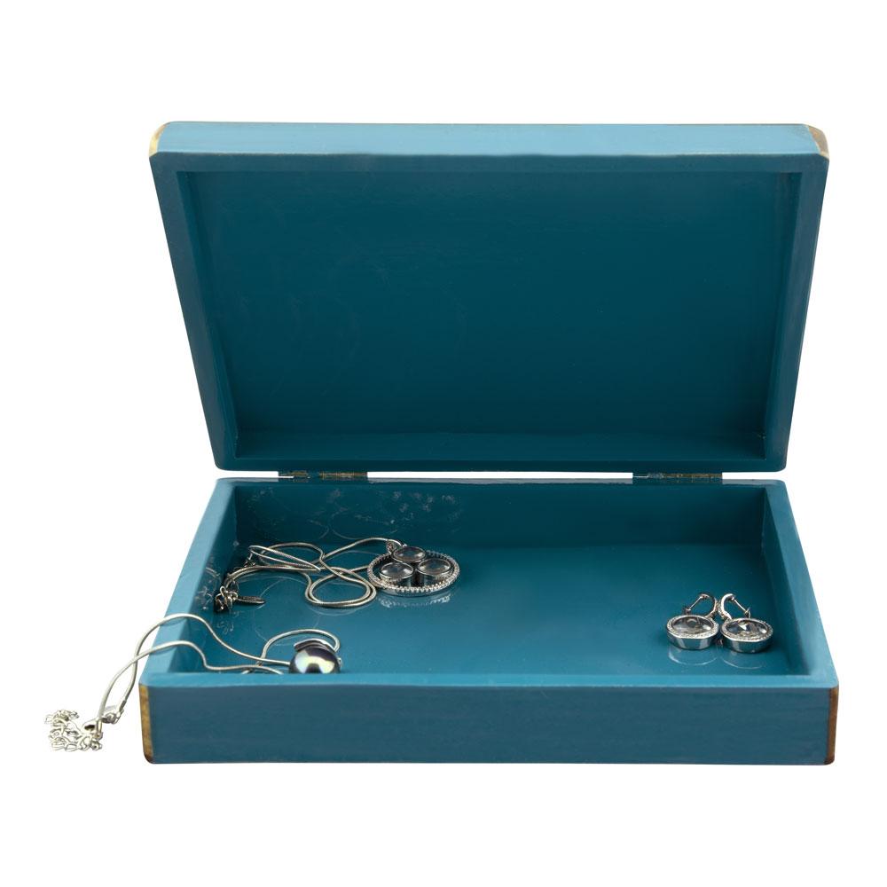 Caja pequeña azul A LA PAR