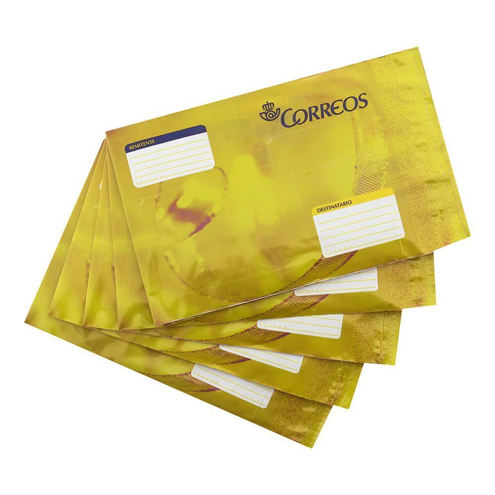 Pack 6 sobres de plástico acolchado medianos