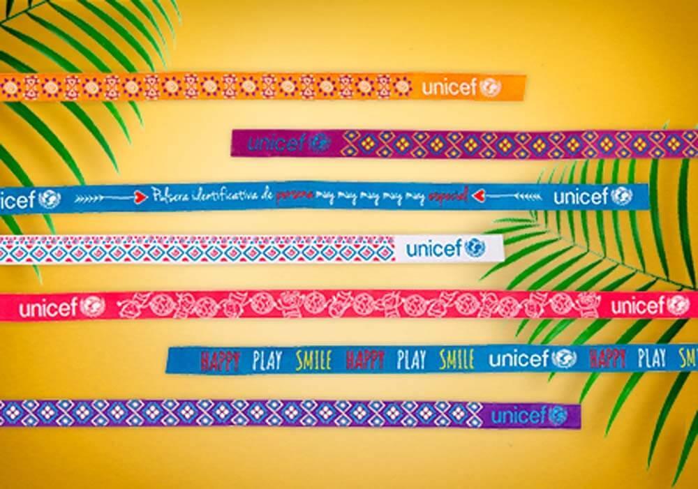 Pulseras solidarias UNICEF
