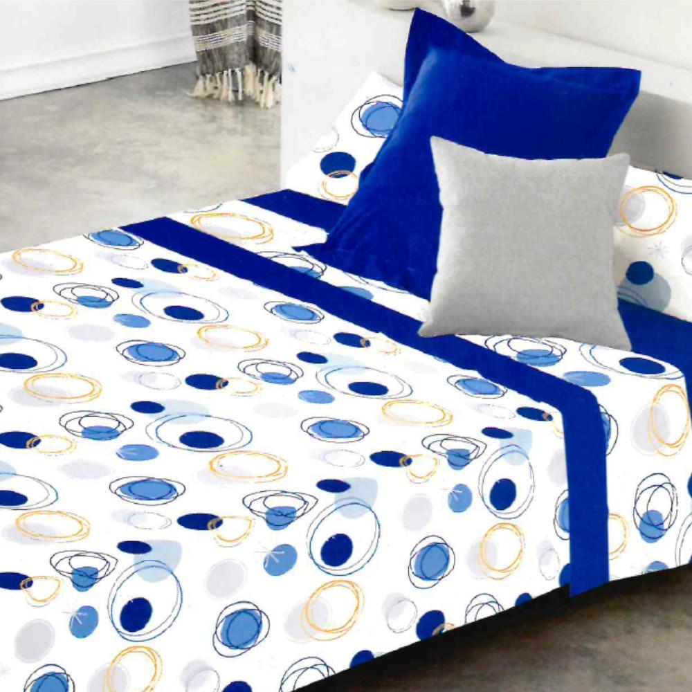 Juego de sábanas LLANES AZUL cama de 200