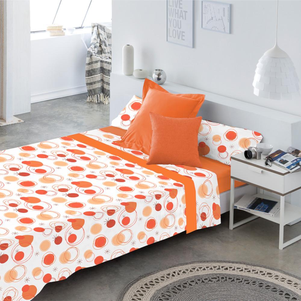 Juego de sábanas LLANES NARANJA cama de 160