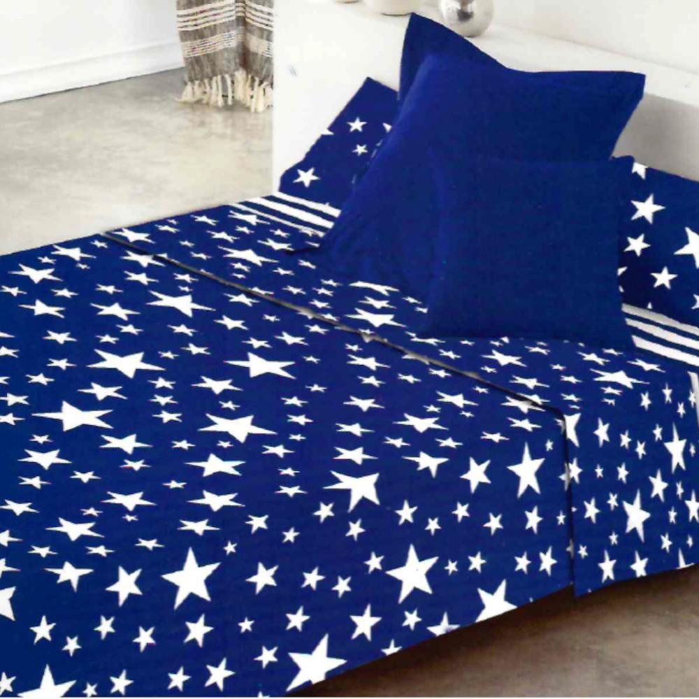 Juego de sábanas GIVETTE AZUL cama de 160