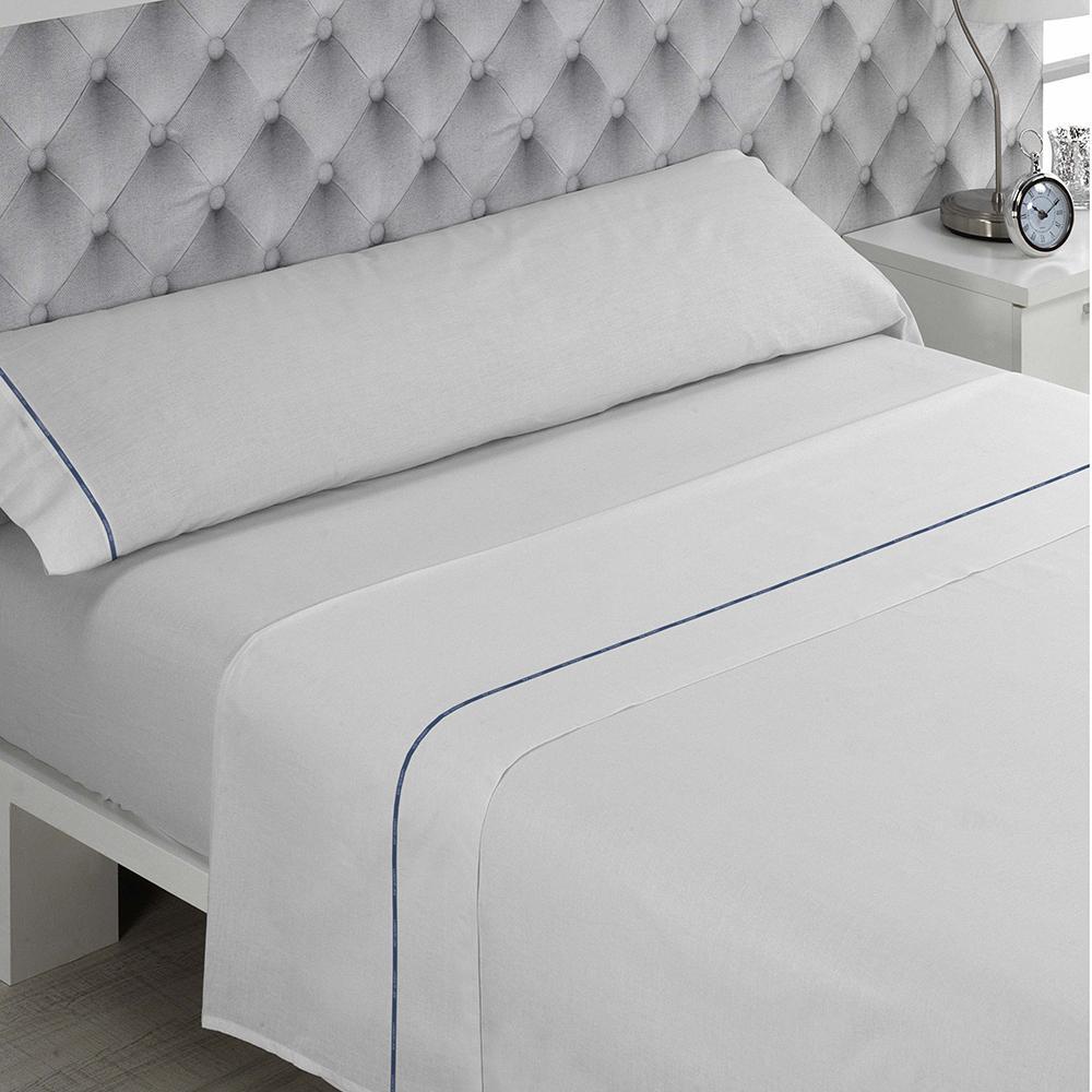 DON ALGODÓN Juego de sábanas LISA BLANCO cama 160.