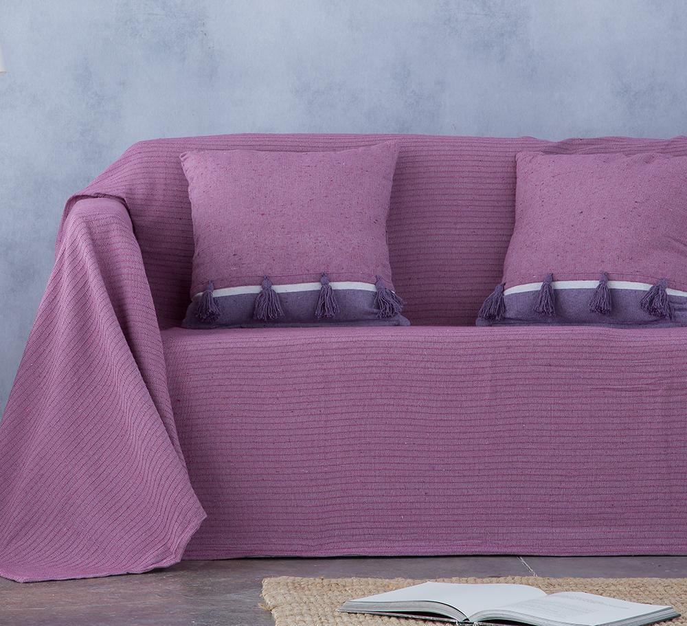 Cubre sofá foulard multiusos BAMBU MORADO ( 240 x 260 cm)