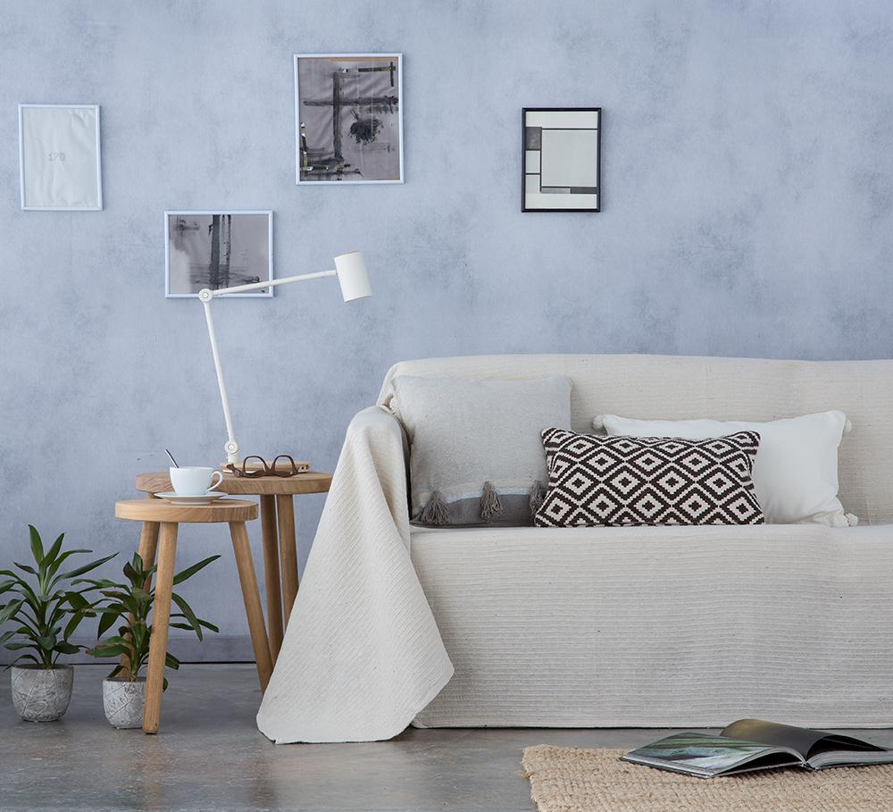 Cubre sofá foulard multiusos BAMBU NATURAL (180 x 260 cm)