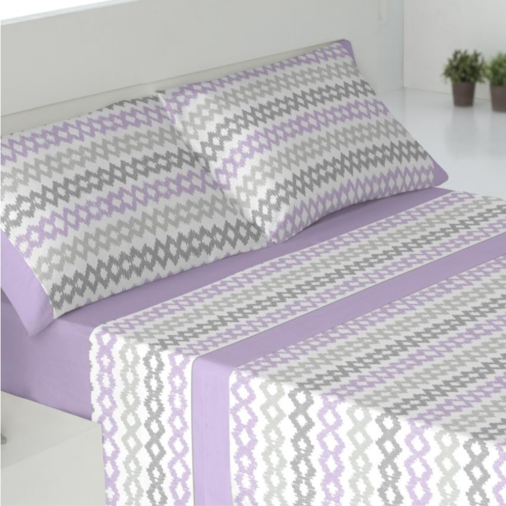 Juego de sábanas de invierno tejido CORALINA. SENA MALVA cama de 180