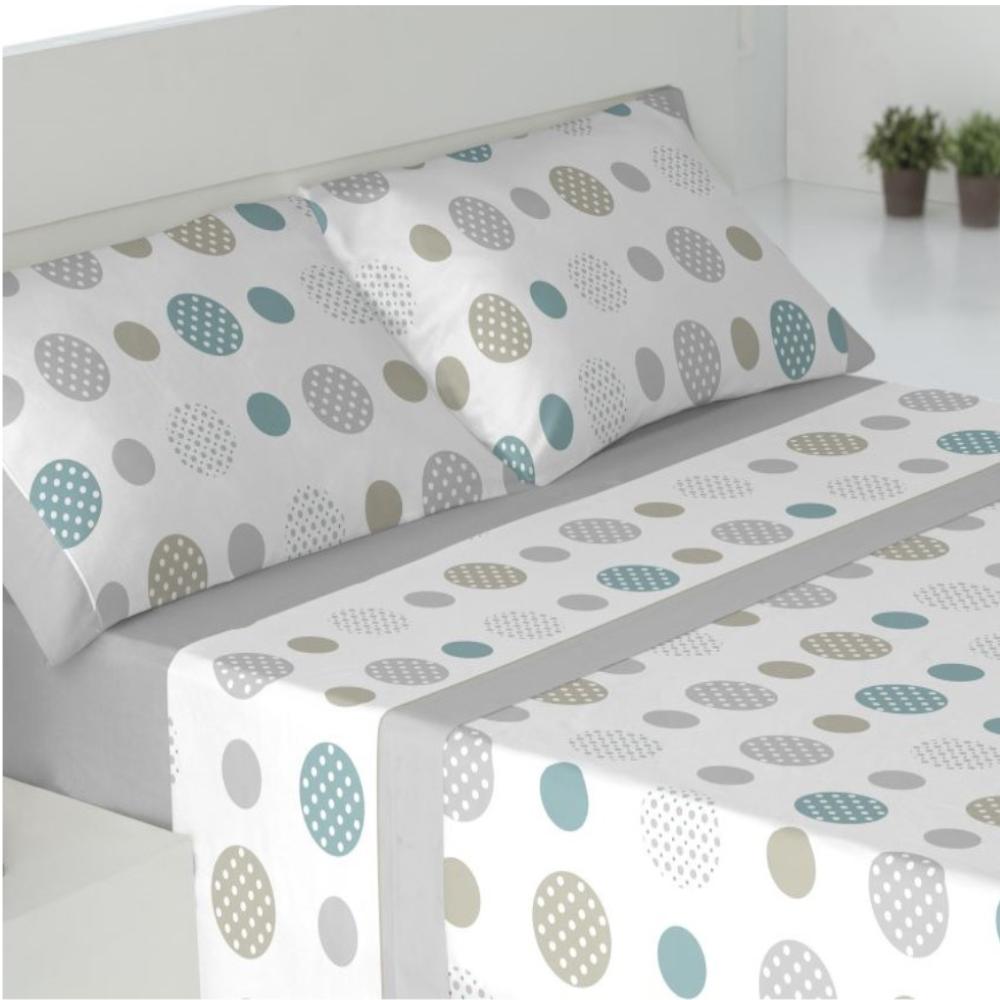 Juego de sábanas de invierno tejido CORALINA. SAVA GRIS cama de 180