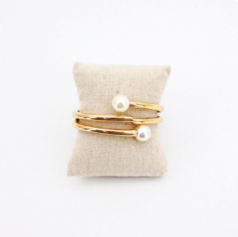 Pulsera perlas gold