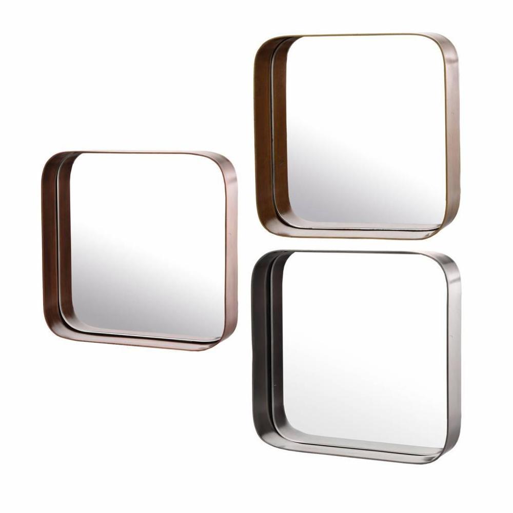 Espejo cuadrado metal