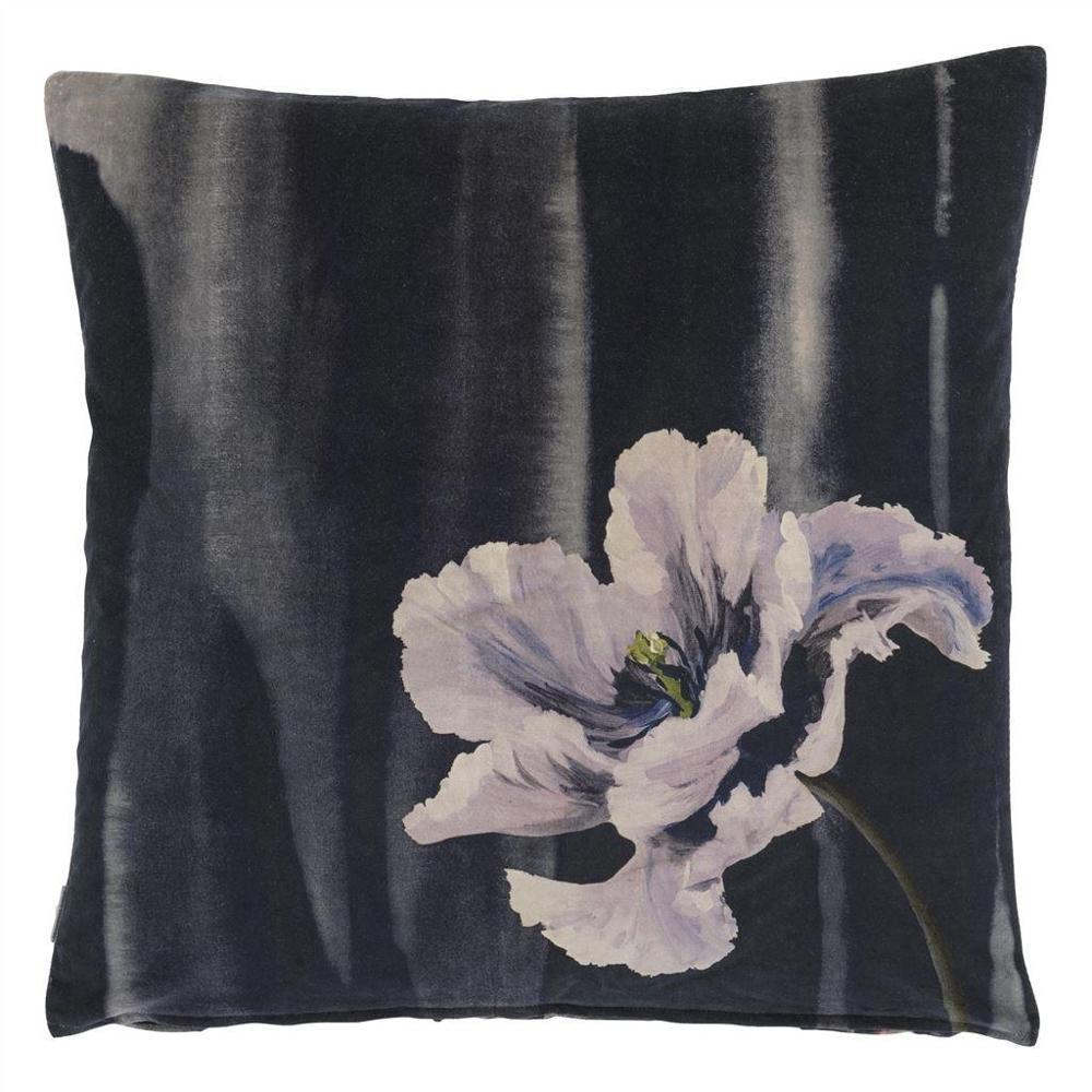 Cojín Delft Flower Noir 60x60cm