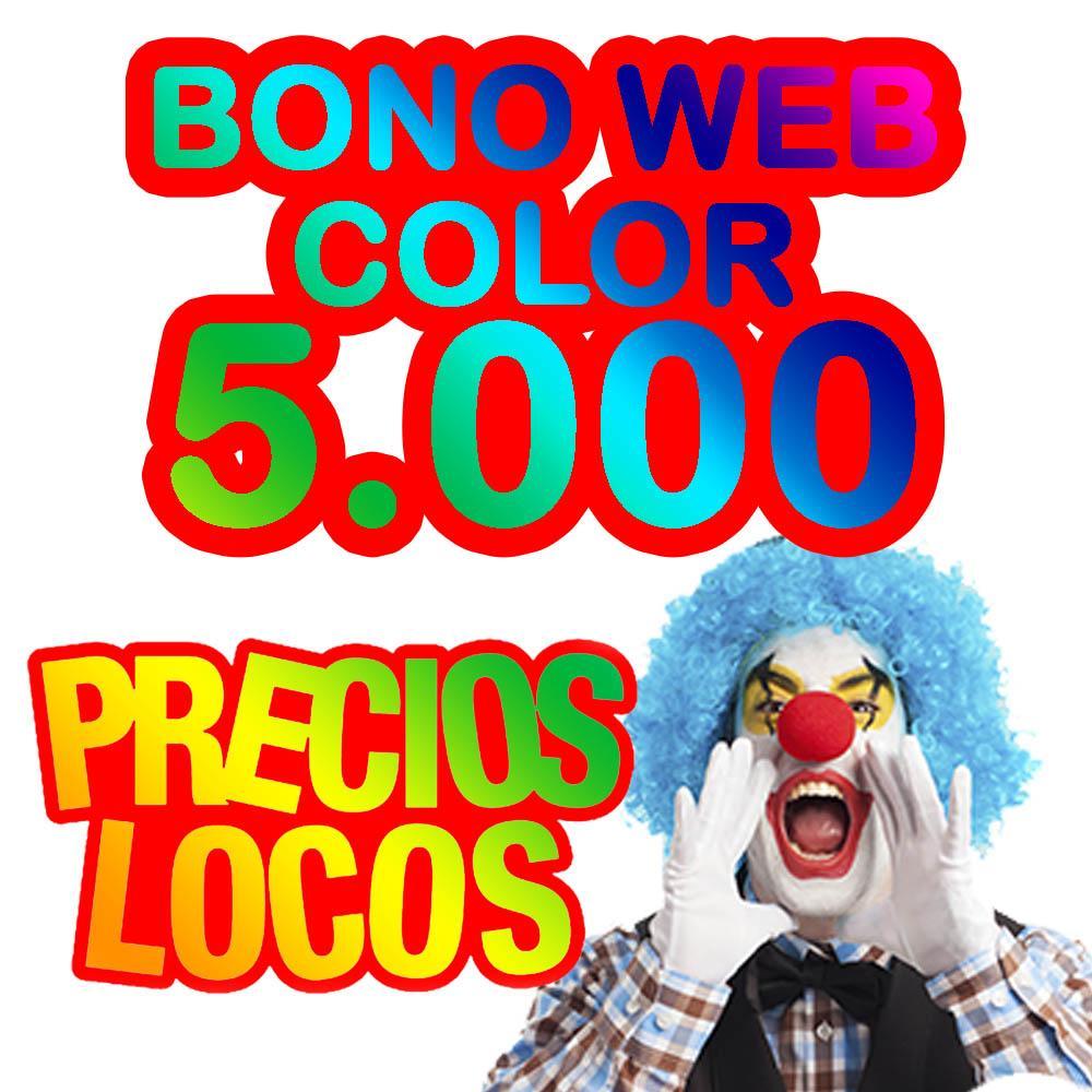 BONO WEB 5.000 COLOR 0.09€/copia