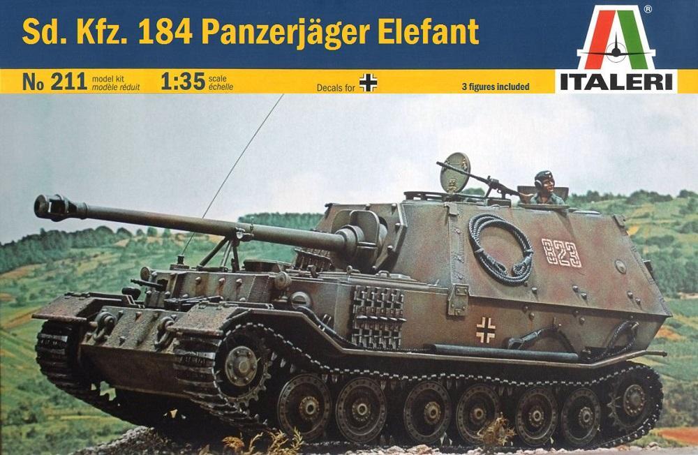 ITALERI 0211 German Sd.Kfz.184 Panzerjäger 'Elefant' (WWII)