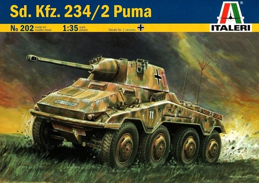 ITALERI 0202 German Sd.Kfz.234/2 'Puma' (WWII)