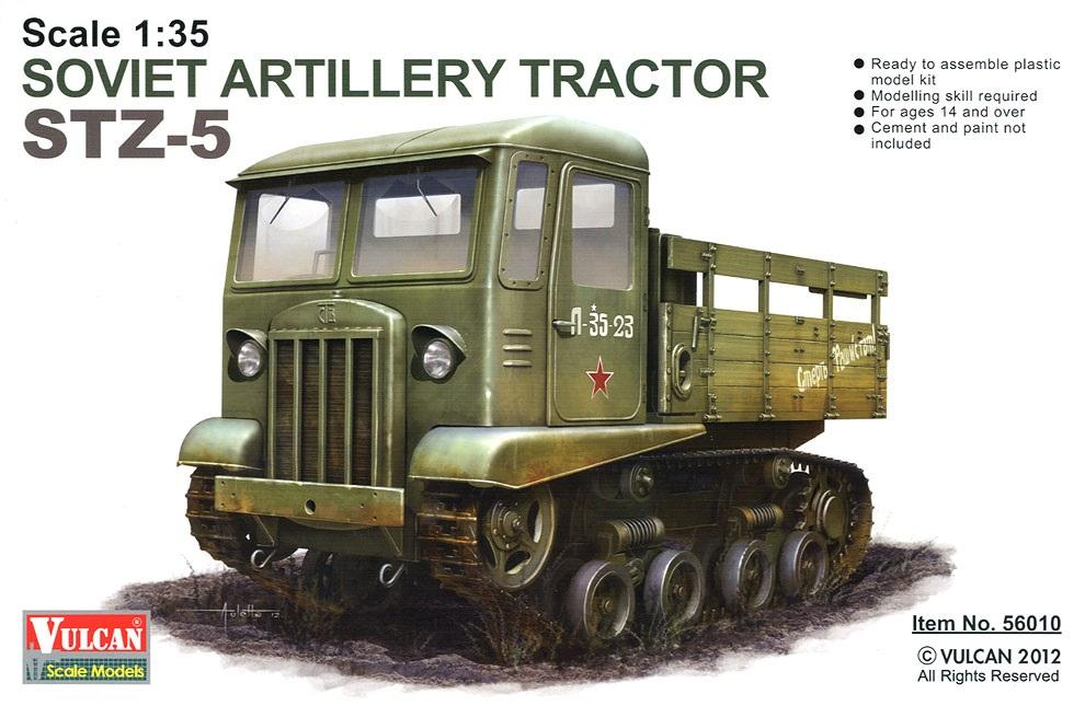 VULCAN SCALE MODELS 56010 Soviet Artillery Tractor STZ-5 (WWII)