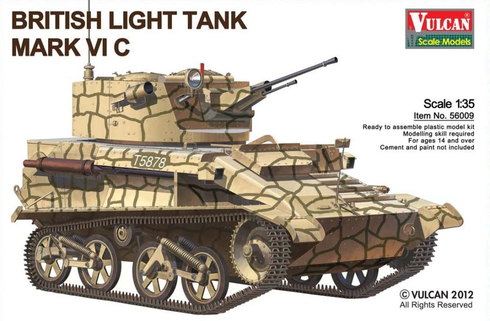 VULCAN SCALE MODELS 56009 British Light Tank Mark VI C (WWII)