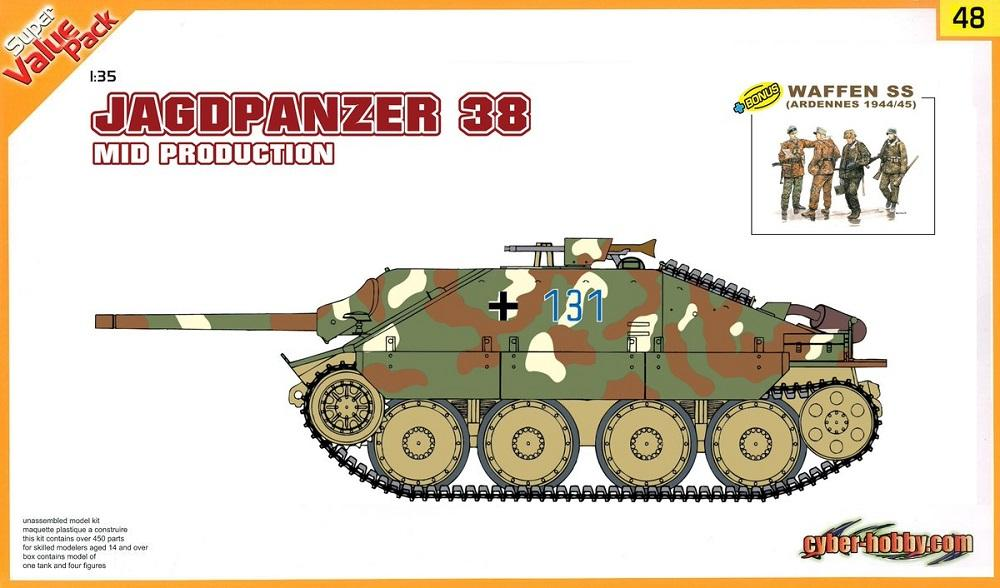 CYBER-HOBBY 9148 Jagdpanzer 38(t) 'Mid Production' & Waffen Grenadier