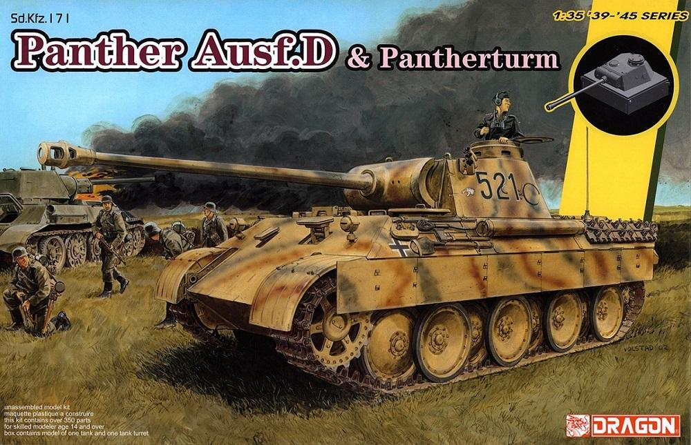 DRAGON 6940 German Medium Tank 'Panther' Ausf.D and Pantherturm