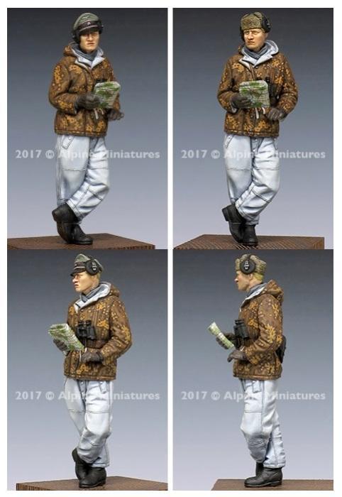 ALPINE MINIATURES 35238 WSS Panzer Commander Winter