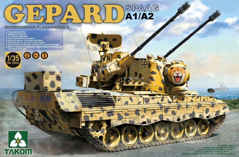 TAKOM 2044 Bundeswehr Flackpanzer 1 Gepard SPAAG A1/A2