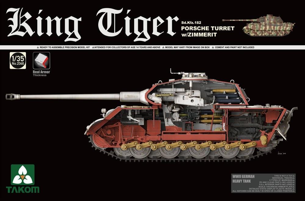 TAKOM 2046 German Heavy Tank Sd.Kfz.182 King Tiger (Porsche Turret)