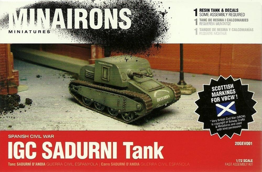 MINAIRONS 20GEV001 IGC Sadurni Tank (Guerra Civil Española)
