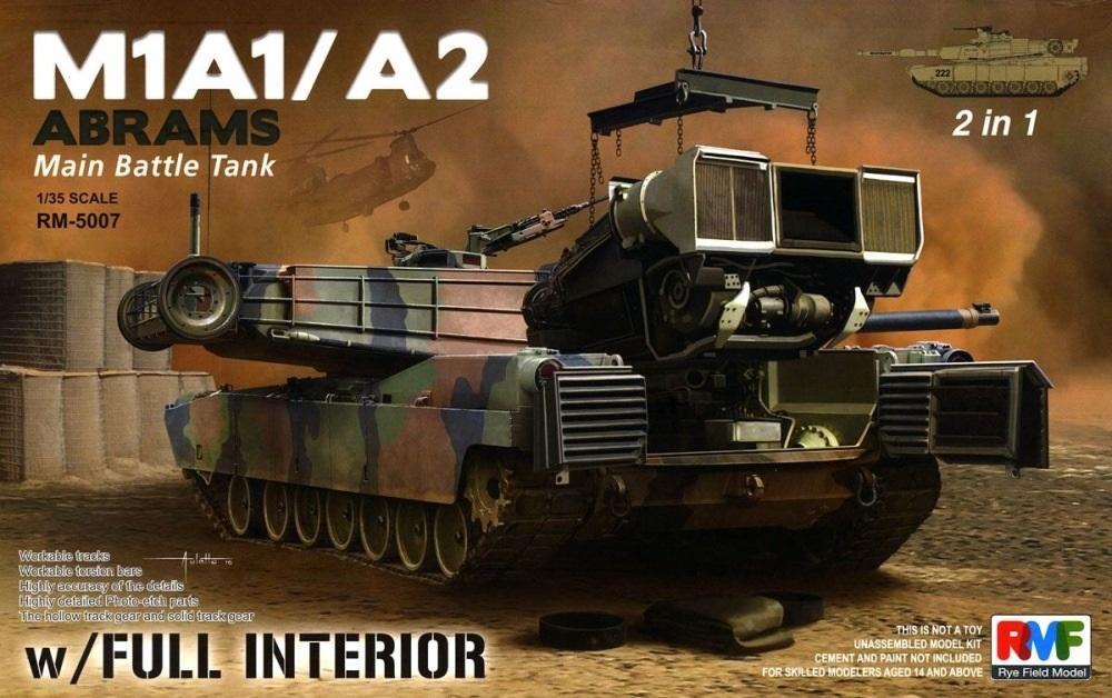 RYE FIELD MODELS 5007 U.S. Main Battle Tank M1A1/A2 'Abrams' (with Full Interior)