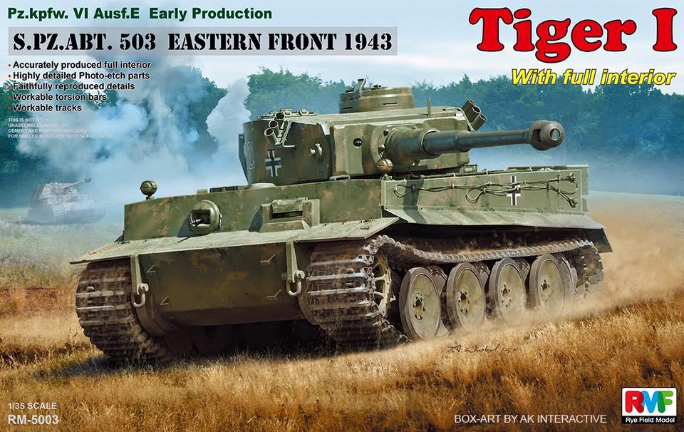 RYE FIELD MODELS 5003 German Pz.Kpfw.VI Ausf.E Tiger I 'Early Production' (with Full Interior)