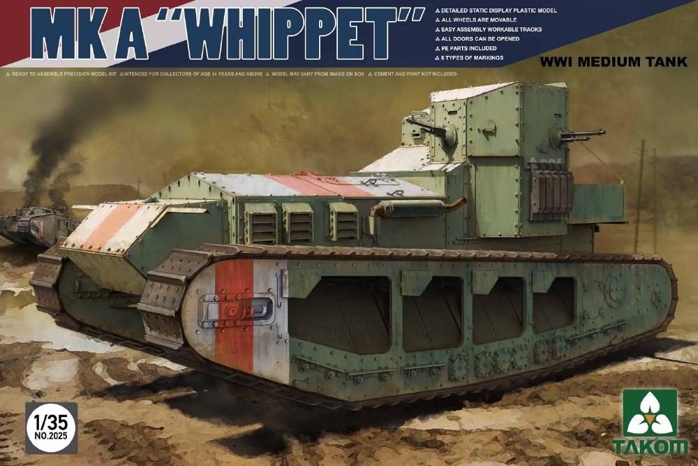 TAKOM 2025 British Medium Tank Mk.A 'Whippet' (WWI)