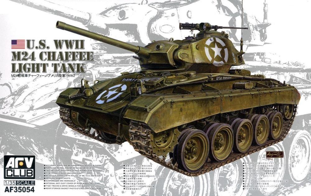 AFV CLUB AF35054 U.S. Army Light Tank M24 'Chaffee'
