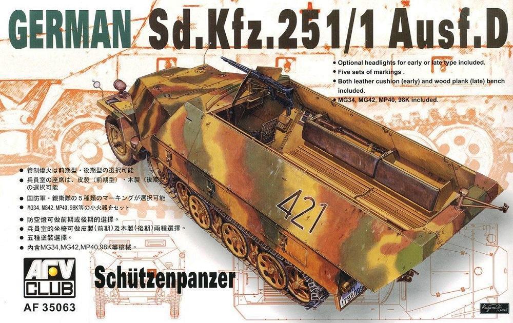 AFV CLUB AF35063 German Sd.Kfz.251/1 Ausf.D Schützenpanzer