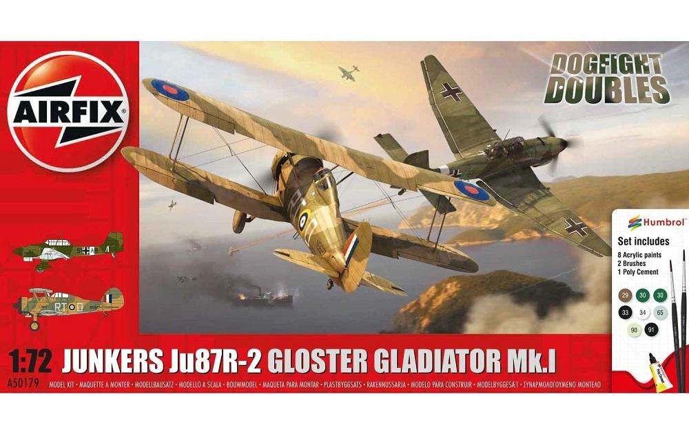 AIRFIX 50179 Junkers Ju 87R-2 'Stuka' & Gloster Gladiator Mk.I (Dogfight Doubles)
