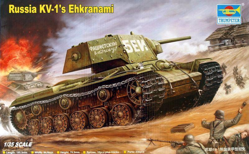TRUMPETER 00357 Russian Heavy Tank KV-1 'Ehkranami'