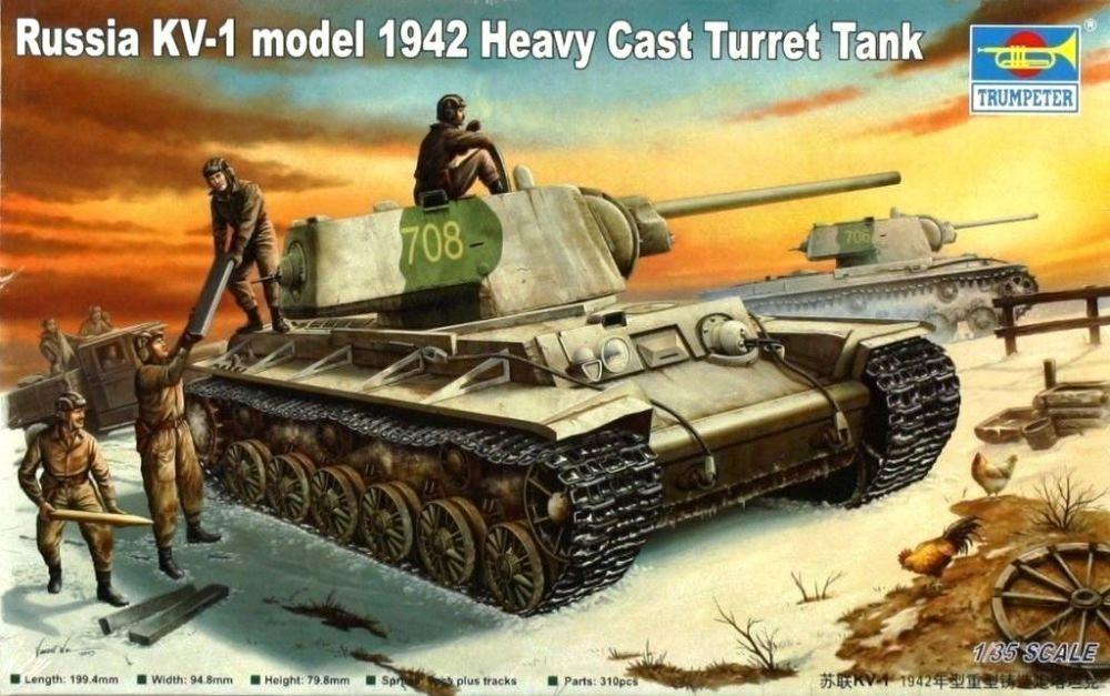 TRUMPETER 00359 Soviet Heavy Tank KV-1 Model 1942 (Heavy Cast Turret)