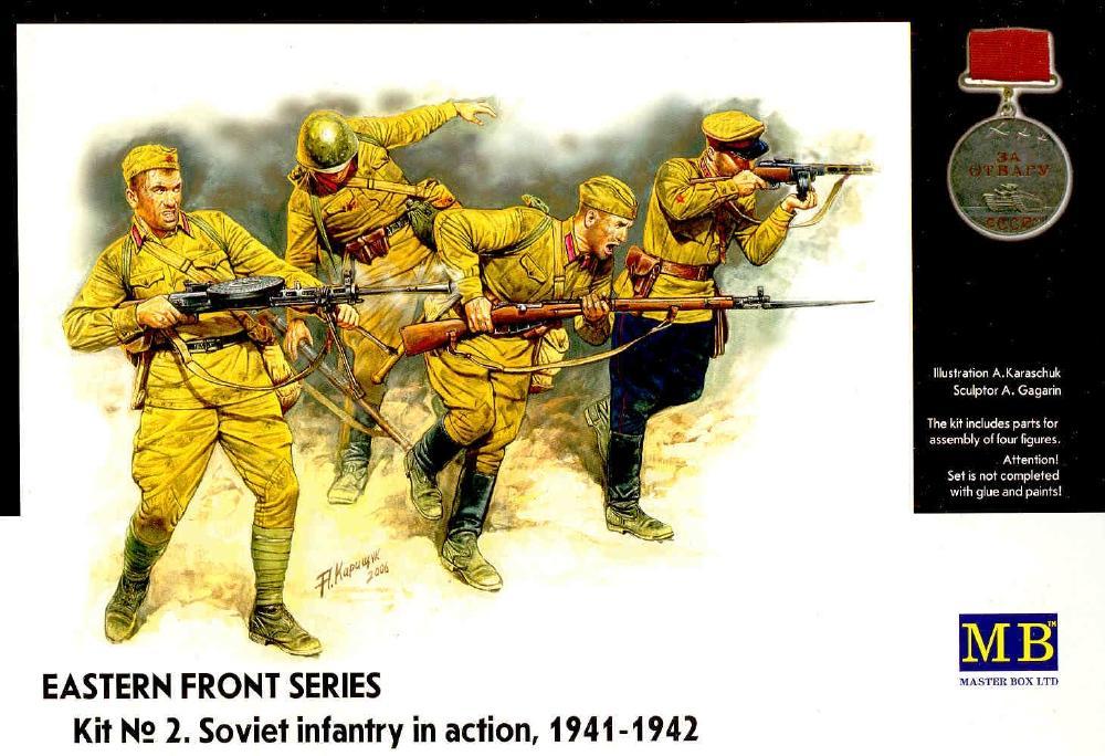 MASTER BOX 3523 Soviet Infantry in Action (Kit 2)