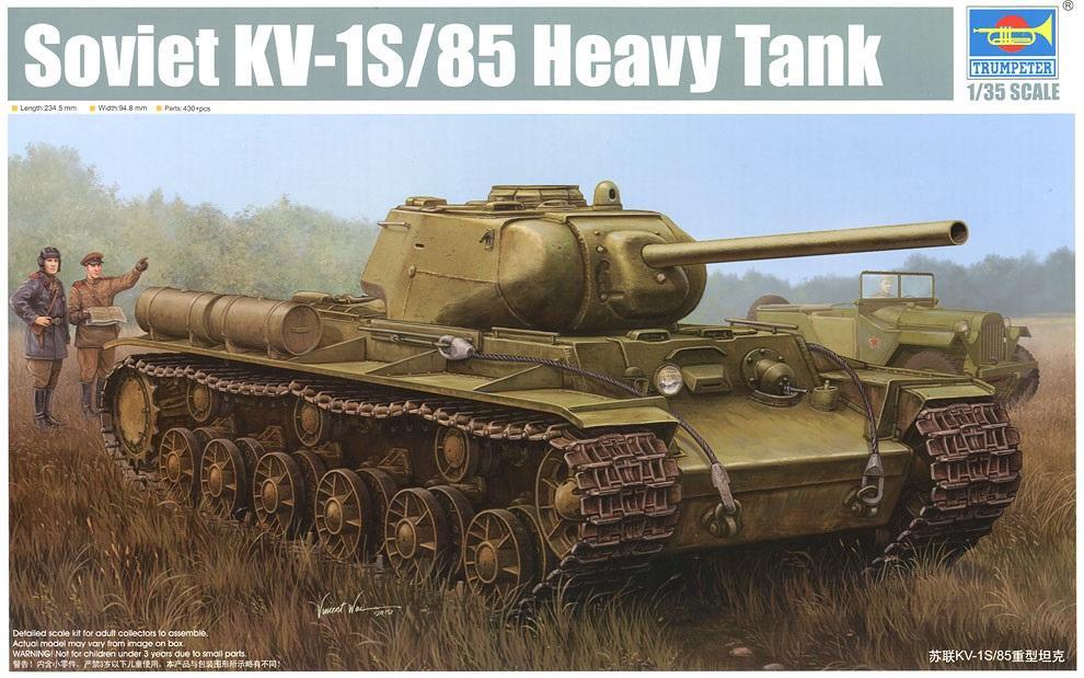 TRUMPETER 01567 Soviet Heavy Tank KV-1S/85