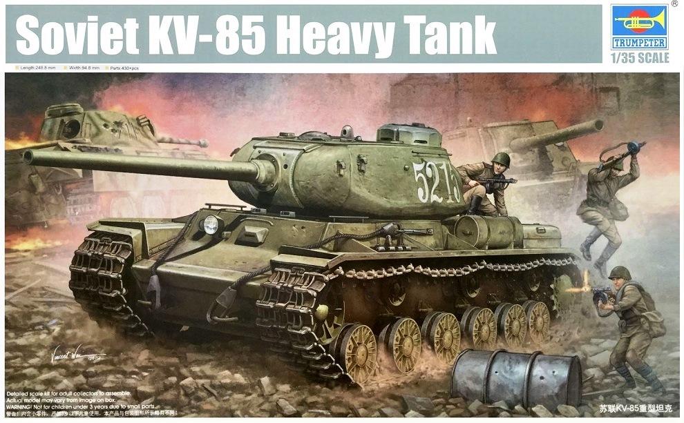 TRUMPETER 01569 Soviet Heavy Tank KV-85 Model 1943