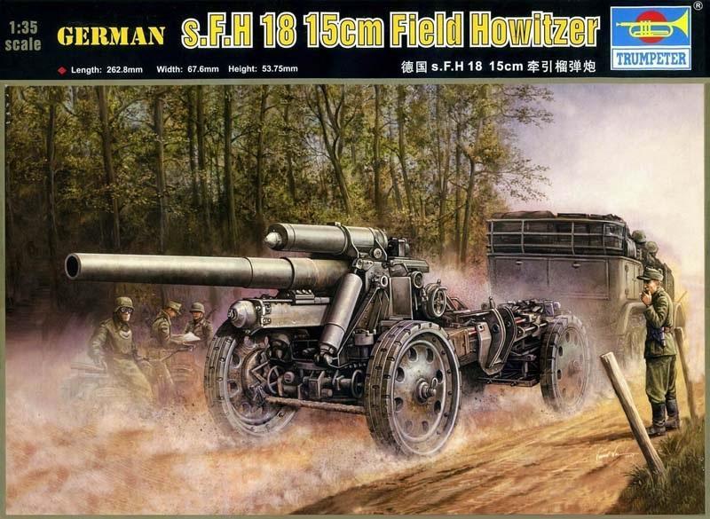 TRUMPETER 02304 German Field Howitzer s.F.H.18 (15 cm)