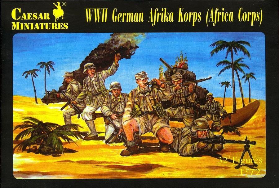 CAESAR MINIATURES H070 German Afrika Korps (WWII)