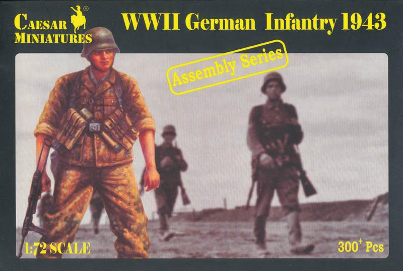 CAESAR MINIATURES 7711 German Infantry in 1943 (WWII)